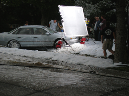 filming movie snow
