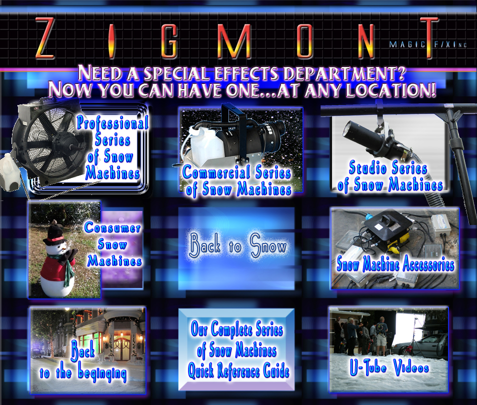 Special effects Fake snow machine Rentals and service