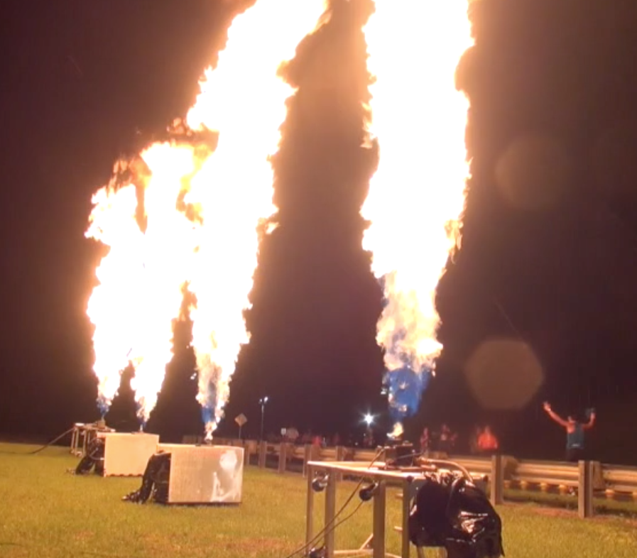 30 foot Propane Flames for Disney Magic Kingdom